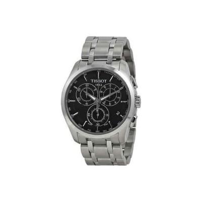 腕時計 ティソット メンズ  Tissot Couturier Chronograph Black Dial Men's Watch T035.617.11.051.00