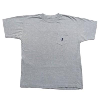 【25%off】古着 オールド ミッキー ワンポイントロゴ ポケットTシャツ グレー サイズ表記:--
