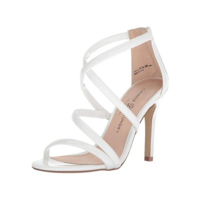 レディース 靴 ヒール パンプス Chinese Laundry Womens Jillian Open Toe Casual Strappy White Patent Size 10.0