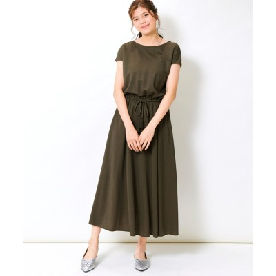 大きいサイズ リネンライクロングワンピース ,スマイルランド, ワンピース, plus size dress