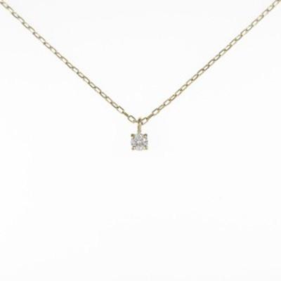 【中古品】K18YG ソリティア ダイヤモンドネックレス