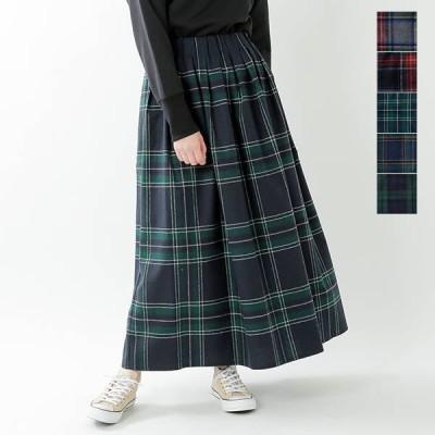O'NEIL OF DUBLIN オニールオブダブリン aranciato別注 ウールブレンドタックチェックロングスカート s26592  2020aw新作
