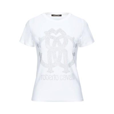 ロベルト カヴァリ ROBERTO CAVALLI T シャツ ホワイト S コットン 95% / ポリウレタン 5% T シャツ