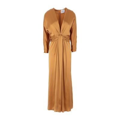 LUPE ロングワンピース&ドレス キャメル 0 シルク 100% ロングワンピース&ドレス