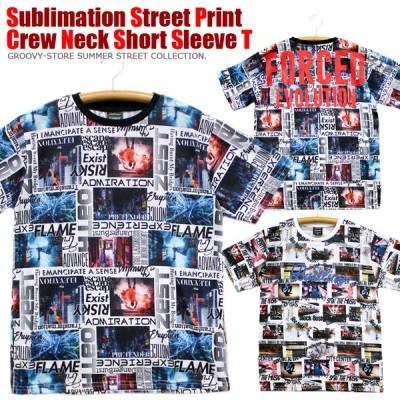 Sublimation ストリート フォト クルーネック 半袖 Tシャツ