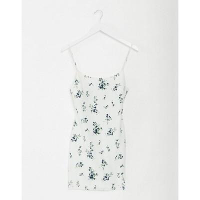 エイソス レディース ワンピース トップス ASOS DESIGN cami mini slip sundress in floral print