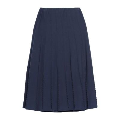 GIORGIO GRATI 7分丈スカート ダークブルー 40 レーヨン 82% / ポリエステル 18% 7分丈スカート