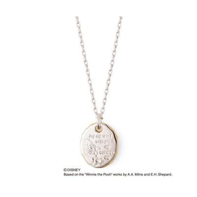 ディズニー くまのプーさん & はちみつ THE KISS シルバー メッセージ ペアネックレス レディース・1本販売 ダイヤモンド SV925
