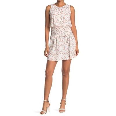 コレクティブコンセプツ レディース ワンピース トップス Floral Smocked Sleeveless Dress WHT MULTI