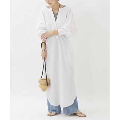 【プラージュ】 PINTUCK DRESS SHIRTS ワンピース◆ レディース ホワイト フリー Plage