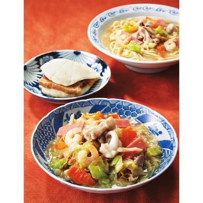 長崎中華街 蘇州林 〈長崎・蘇州林〉ちゃんぽん皿うどん角煮割包