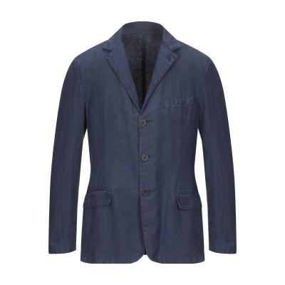 120% テーラードジャケット ブルー S リネン 100% テーラードジャケット