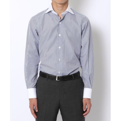 (TOMORROWLAND MENS/トゥモローランド メンズ)140/2コットンブロード ワイドカラー ドレスシャツ/メンズ ブルー系