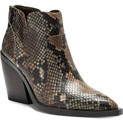 ヴィンス カムート Vince Camuto レディース ブーツ ブーティー シューズ・靴 Gradesha Stacked-Heel Booties Tostada Snake