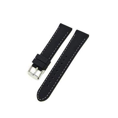 MORELLATOモレラート シリコンラバー時計バンド CAREZZA カレッツァ ブラック×ホワイト 22mm[正規輸入品]