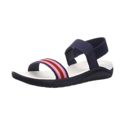 crocs クロックス Women's LiteRide Sandal ライトライド サンダル ウィメン Navy Colorblock/Navy 24.0cm