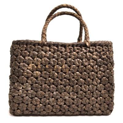 山葡萄かごバッグ クルミ ウォルナット  高級  六角編 内布付き  wild walnut bag 91476