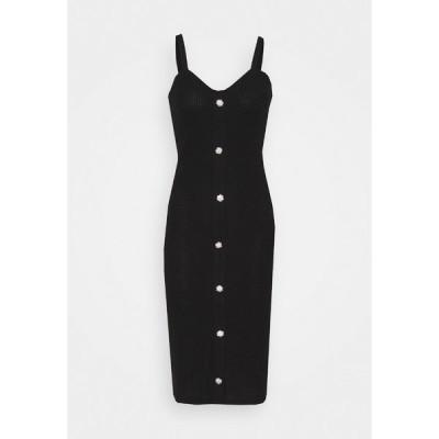 ヴェロモーダ ワンピース レディース トップス VMTIA BUTTON CALF DRESS - Jumper dress - black