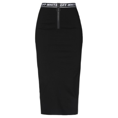 OFF-WHITE™ 7分丈スカート ブラック 38 レーヨン 65% / ナイロン 30% / ポリウレタン 5% / ポリエステル 7分丈スカート