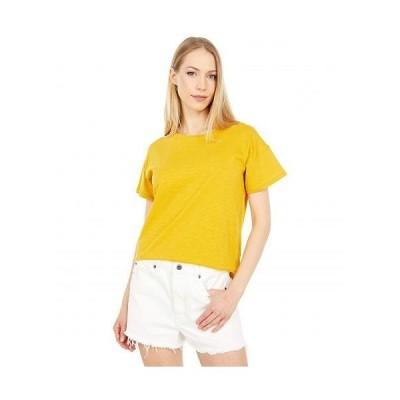 Madewell レディース 女性用 ファッション Tシャツ Whisper Cotton Rib-Crewneck Tee - Nectar Gold