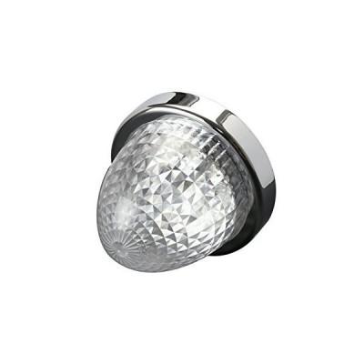 24V LED バスマーカー ランプ クリアレンズ アンバー発光 クリスタルリフレクター入り トラック サイドマーカー