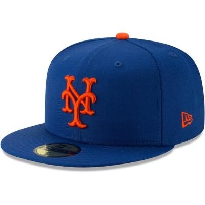 ニューエラ 帽子 アクセサリー メンズ New York Mets New Era Cooperstown Collection Alt Logo Pack 59FIFTY Fitted Hat Royal
