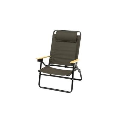 Whole Earth 椅子 チェア 折りたたみ ハイバックチェア STELLA WE2KDC05 OLV イス コンパクト 座り心地 肘掛け (メンズ、レディース)