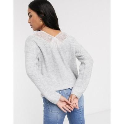 ヴィラ レディース ニット・セーター アウター Vila oversized sweater with lace back detail