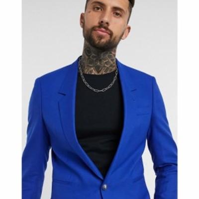エイソス ASOS EDITION メンズ スーツ・ジャケット アウター co-ord slouch suit blazer in blue ブルー