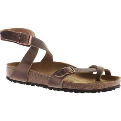 ビルケンシュトック サンダル シューズ レディース Yara Oil Leather Toe Loop Sandal (Women's) Tobacco Oiled