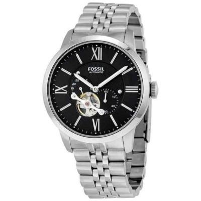 腕時計 フォッシル メンズ Fossil Townsman Black Dial Automatic Men's Watch ME3107