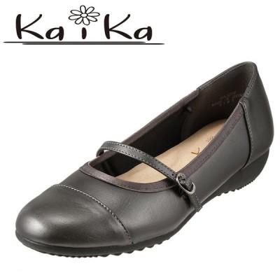 カイカ kaika KA3272 レディース ストラップパンプス 大きいサイズ対応 25.0cm スチール