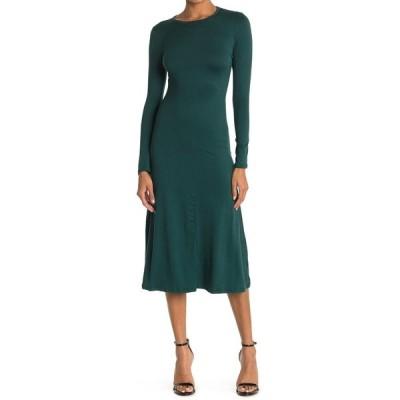 ベルベットトーチ レディース ワンピース トップス Long Sleeve Midi Dress HUNTER GREEN