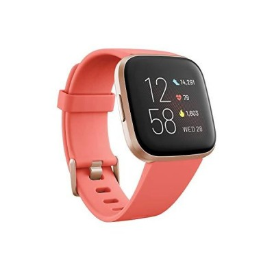 Fitbit Versa 2 Health & Fitness Smartwatch with Voice Control, Sleep Score & Music, Blossom, with Alexa Built-in 並行輸入品