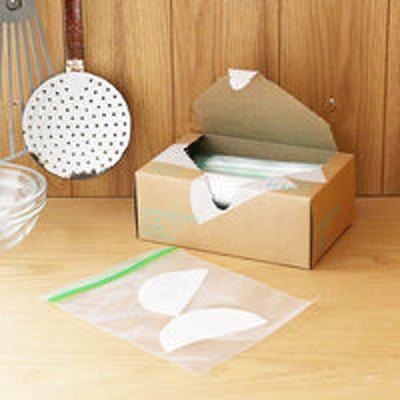 アスクルフリーザーバッグ(マチ無し 冷蔵 冷凍対応) Sサイズ A6サイズがピッタリ入る 1箱(60枚入) ロハコ(LOHACO) オリジナル