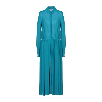 マウロ グリフォーニ MAURO GRIFONI ロングワンピース&ドレス ターコイズブルー 42 レーヨン 70% / ポリエステル 30% ロン