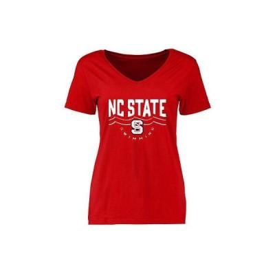 海外バイヤーおすすめ アメリカ USA カレッジ 全米 リーグ NCAA NC State Wolfpack レディース レッド スイミング Tシャツ