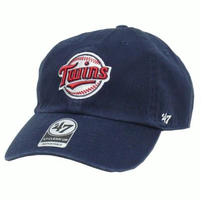 【ネコポス便 \200対応】 47Brand MLB01678 Twins '47 CLEAN UP ツインズ '47クリーンナップ オールシーズン対応 Ball Logo Navy