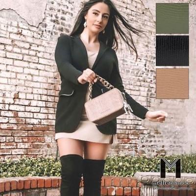 限定品 Melie Bianco(メリービアンコ)CM7069 Demi Victoria's Secret レディース クロコ柄 スクエアハンドバッグ べっ甲 チェーンハンドル ショルダー
