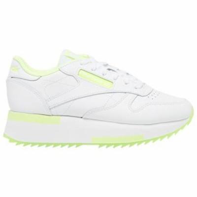 (取寄)リーボック レディース シューズ クラシック レザー ダブル Reebok Women's Shoes Classic Leather Double White Yellow