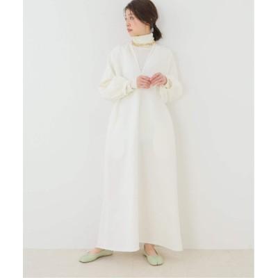レディース プラージュ ギャザースリーブ ドレス ホワイト 38