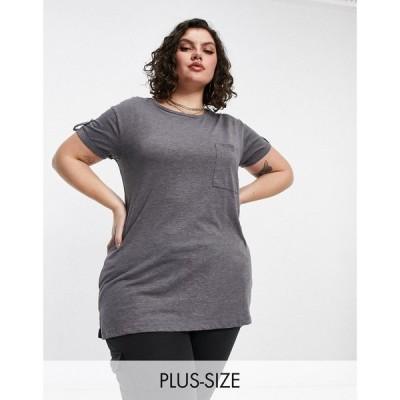 ユアーズ Yours レディース Tシャツ ポケット トップス Pocket Front T-Shirt In Grey Marl グレー