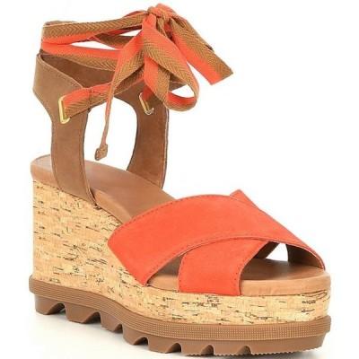 ソレル レディース サンダル シューズ Joanie II High Ankle Lace Wedge Sandals