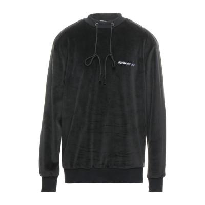 ヌメロ NUMERO 00 スウェットシャツ ブラック S ポリエステル 100% / コットン / ポリウレタン スウェットシャツ