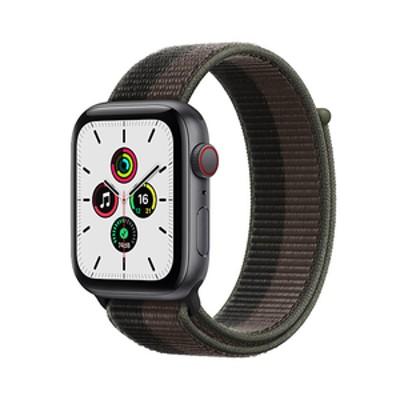 Apple Apple Watch SE(GPS + Cellularモデル)- 44mm スペースグレイアルミニウムケースとトルネード/グレイスポーツループ MKT53JA