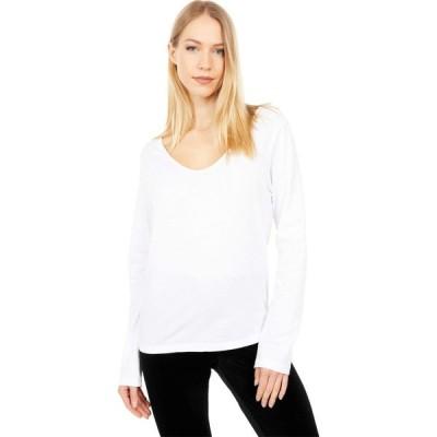 スキン Skin レディース トップス Organic Cotton Caileigh Long Sleeve White