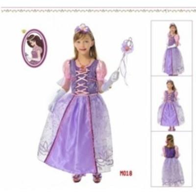 プンツェル姫   子供用 風 ハロウィン クリスマスラ コスチューム コスプレ衣装★  K1885