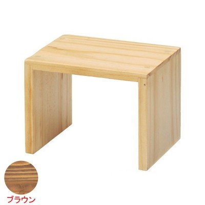木製コの字ディスプレイBR 20×15×15cm