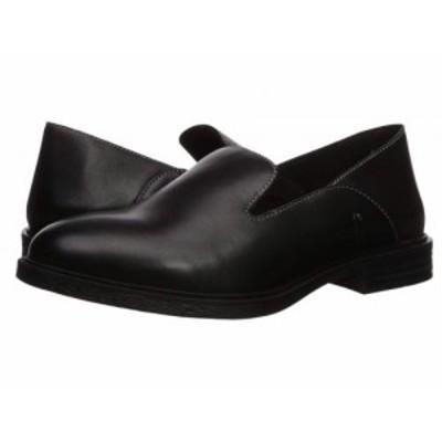 Hush Puppies ハッシュパピーズ レディース 女性用 シューズ 靴 ローファー ボートシューズ Bailey Slip-On Black Leather【送料無料】