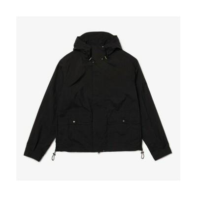 LACOSTE/ラコステ ライトウェイトフードジャケット ブラック 52(日本サイズXL)